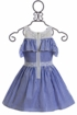 Truly Me Blue Stripe Dress for Girls (4 & 14) Alternate View