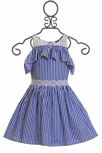 Truly Me Blue Stripe Dress for Girls SOLD OUT