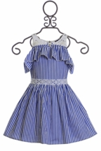 Truly Me Blue Stripe Dress for Girls (4 & 14)