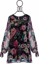 Truly Me Unique Floral Dress for Girls (Size 4)