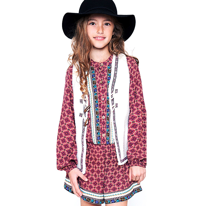 Truly Me Vest For Tweens In Ivory 7 8 14