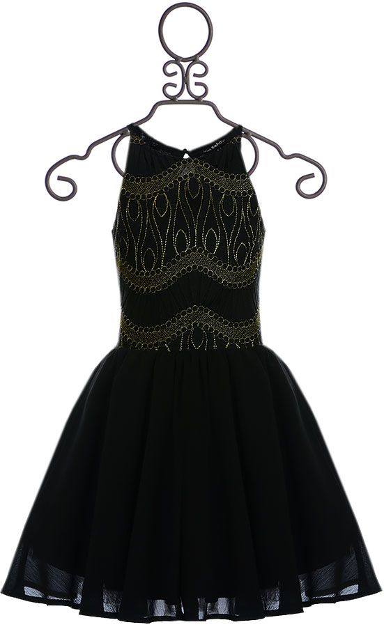 Tween Party Dress In Black Sold Out