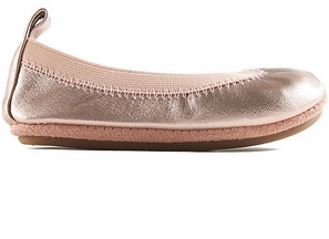 Yosi Samra Flats for Girls Rose Gold (Size 2Y)