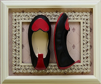 Yosi Samra Leather Flats with Heart (1Y & 2Y)