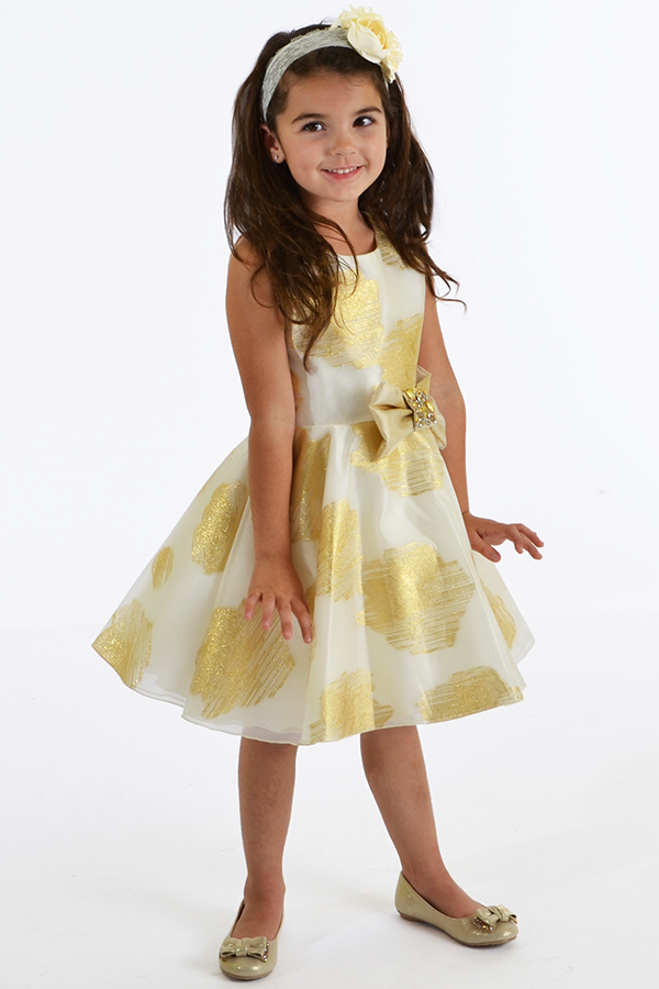 zoe ltd girls special occasion dress in gold. Black Bedroom Furniture Sets. Home Design Ideas