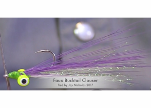 Faux Bucktail Clouser Minnow Fly Tying How-To Video