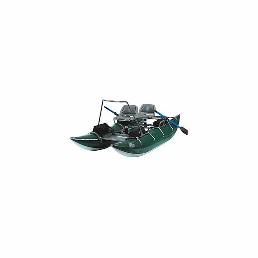 Outcast pac 1200 pontoon inflatable fly fishing float for Fly fishing raft for sale
