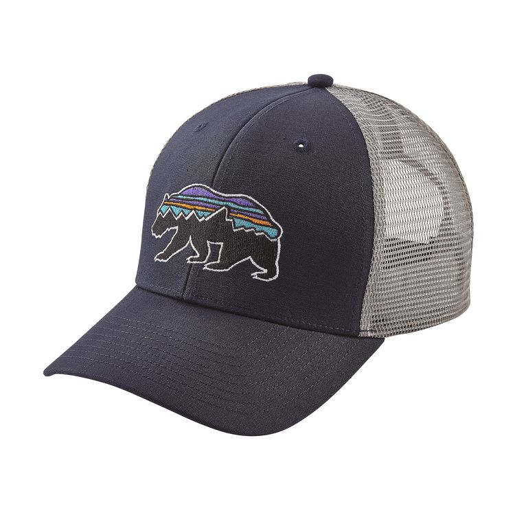 Patagonia fitz roy bear trucker hat hats for Patagonia fish hat