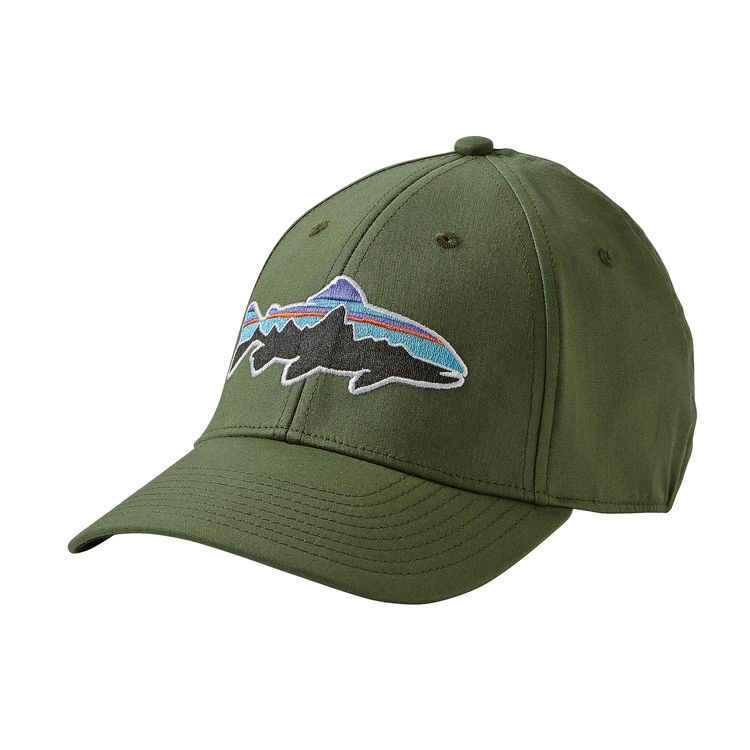 Patagonia fitz roy trout stretch fit hat hats for Patagonia fish hat