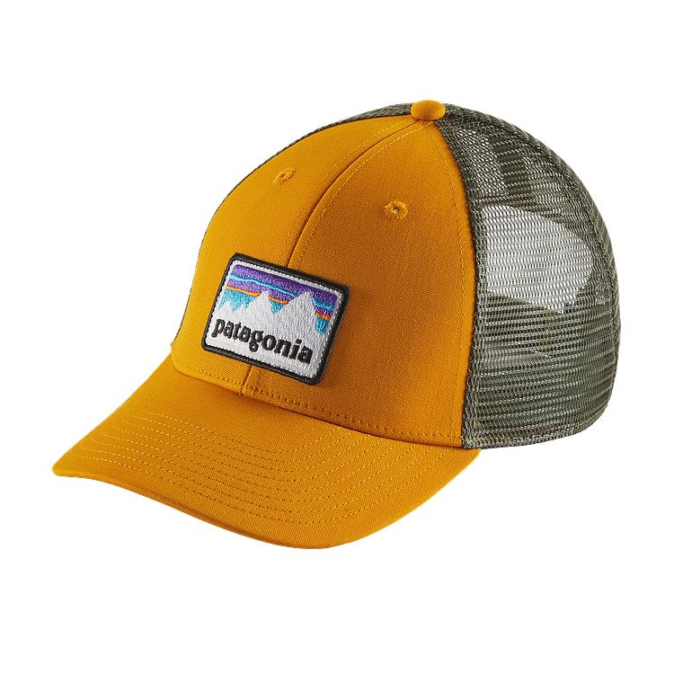 Patagonia shop sticker patch lopro trucker hat hats for Fishing trucker hats