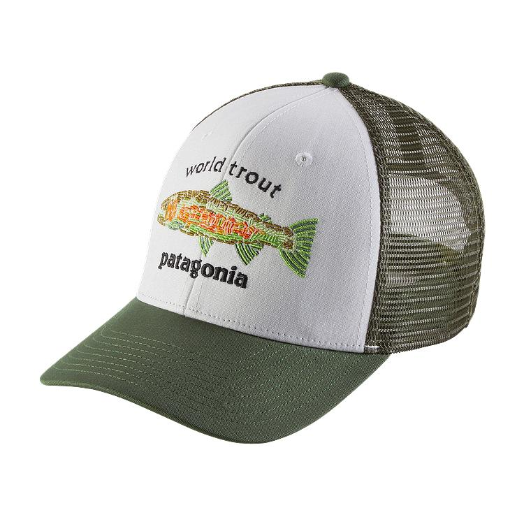 Patagonia world trout fishstitch trucker hat hats for Patagonia fish hat