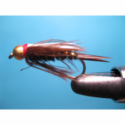 Red headed tungsten bead prince trout steelhead flies for Bead fishing for steelhead