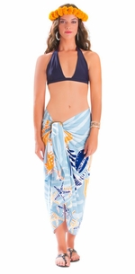 5 SARONGS - Starfish Seashell Sarong in Grey-NO RETURNS