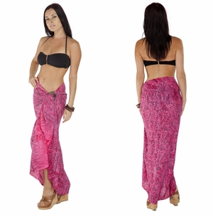 Abstract Sarong in Hot Pink