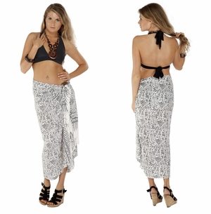 Abstract Sarong in White