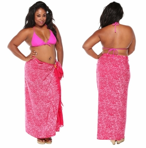 Abstract  Top Quality Sarong in Hot Pink