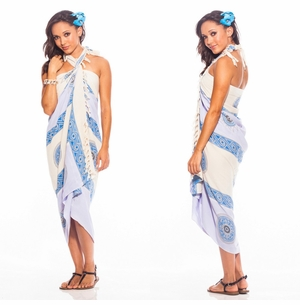 Baliku Sarong in Light Blue and Grey
