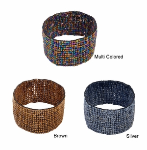 Beaded Stretch Bracelet - Set of 6 Assorted