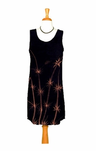 Black Sundress With Hand Painted Bamboo Design