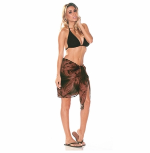Half Sarong/Mini Sarong Pareo in Brown Smoked