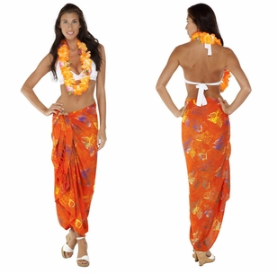 "Butterfly Sarong ""Orange/ Multicolor"""