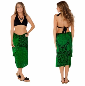 Celtic Sarong, Celtic Cross 1 Emerald Green