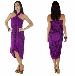 "Celtic Sarong, ""Celtic Cross 1"" Royal Purple"
