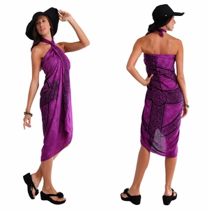 "Celtic Sarong, ""Celtic Cross 3"" Royal Purple"