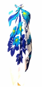 Floral Sarong in Turquoise