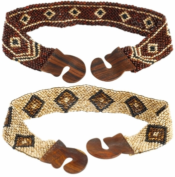Full Coco Bead Belt with Motif (Set of 4)
