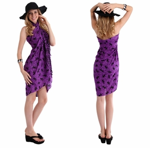 "Gecko Sarong ""Purple / Black"""