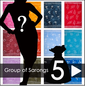 Group of 5 Sarongs