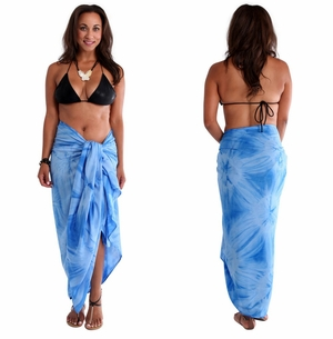 Light Blue Smoked Sarong PLUS SIZE XL - 3X +