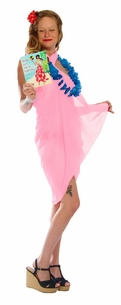 Light Weight Cotton Fringeless Sarong in Light Pink