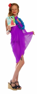 Light Weight Cotton Fringeless Sarong in Purple