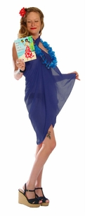 Light Weight Cotton Fringeless Sarong in Royal Blue