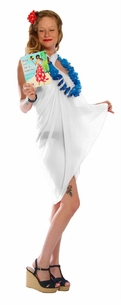 Light Weight Cotton Fringeless Sarong in White