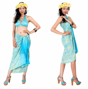 Paisley Sarong in Turquoise