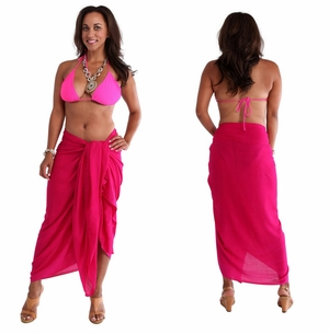 "PLUS SIZE Sarong ""Hot Pink"""