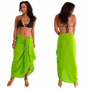 "PLUS SIZE Sarong ""Lime Green"""