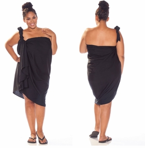 Premium Black Top Quality Sarong PLUS SIZE