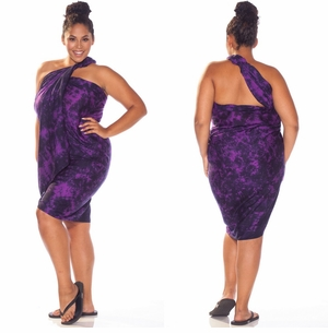 """Purple"" Smoked Sarong PLUS SIZE XL - 3X +"