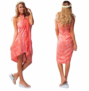 Dragonfly Sarong/Mini Sarong in Peach