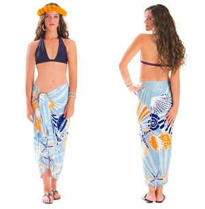 Seashell Sarong in Grey