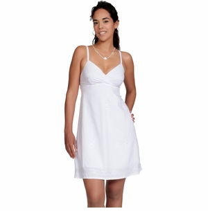 Short Sequined Summer Dress in White - in Your Choice Of Sizes