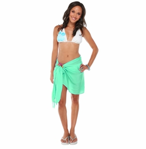 Solid Half Sarong in Mint