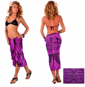 "Tattoo Sarong ""Royal Purple"""