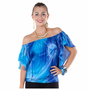 Tdye Blue Top Elastic Cover-Up