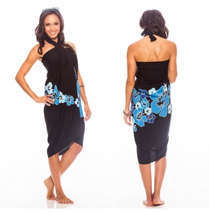 Top Quality Hawaiian Sarong in Blue