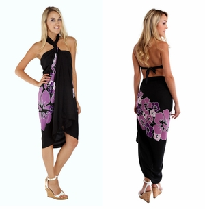 Top Quality Hawaiian Sarong in Purple